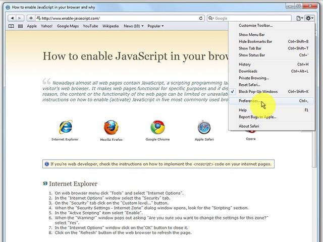 """Sul menù del browser clicca su """"Edit"""" e seleziona """"Preferences""""."""