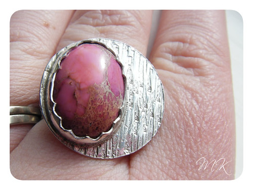 pink sea sediment jasper ring 6