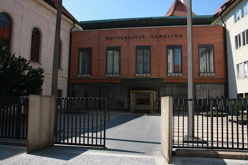 Rektorát Univerzity Karlovy. Ilustrace