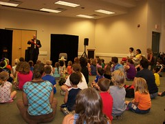 ys-srp-kick-off 002 (eg_library) Tags: magician summerreadingprogram eastgreenbushlibrary jimsnack
