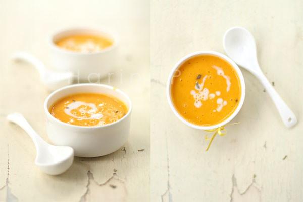 Mango soup diptych
