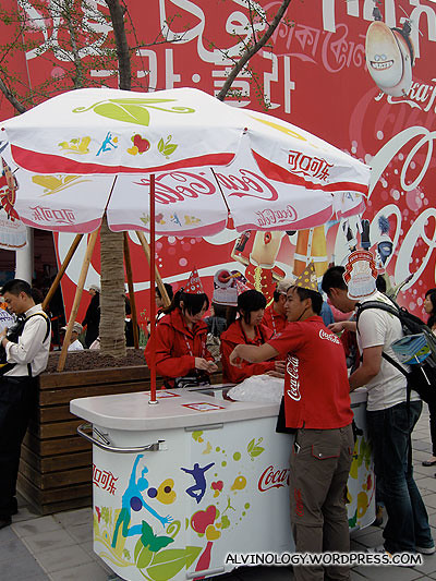 Free Coca-Cola for everyone