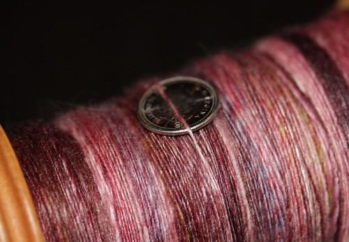 Berry Handspun and hand dyed