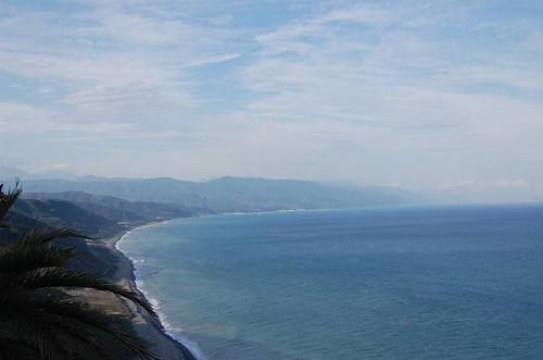 由阿朗壹古道高處遠眺台東。