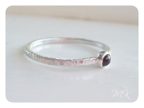 sterling garnet ring 2