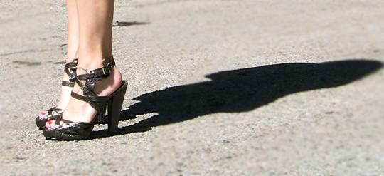 calvin klein snakeskin sandals