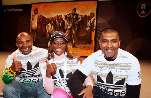 Baby Jake Matlala, actress Hlubi Mboya and Radio DJ Kenny Maistry