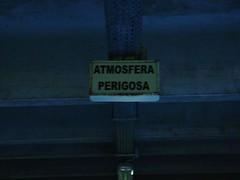 atmosfera perigosa (danger atmosphere) (das Pedro) Tags: warning subway view perigo atmophere