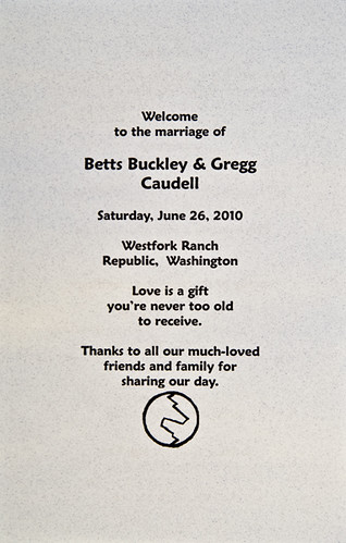 Betty and Gregg's wedding
