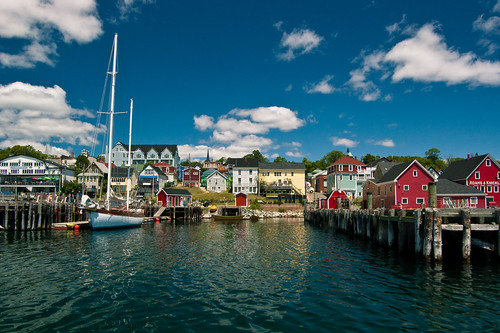 Approaching the wharf, Lunenburg Harbour