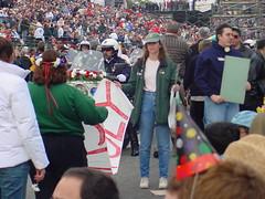 20010101-Rose_Float-0042 (jtgus) Tags: california 2001 party person friend raw newyear oops pasadena roseparade newyearsday pasadenacalifornia paradefloat 20010101 rosefloat juliejacobs pasadenaroseparade julieavard fojtg roseparade2001