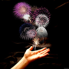 for you my love, fireworks~ (elle.hanley) Tags: shadow fun lights photo pretty hand fireworks magic celebration 4thofjuly independenceday firecracker justbecasue sonya330 vivadeva