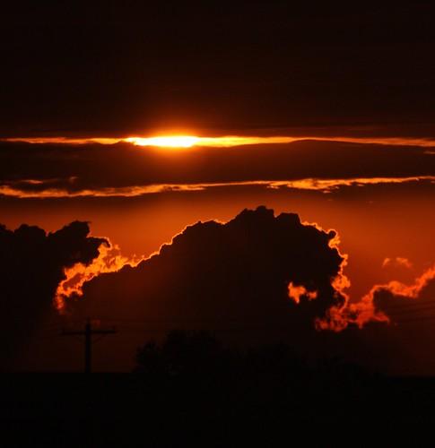 フリー写真素材, 自然・風景, 夕日・夕焼け・日没, 空, 雲, アメリカ合衆国,