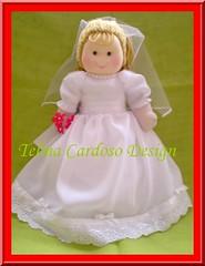 Boneca Noivinha 35 - 40 cm (Telma Cardoso) Tags: bonecas dolls casamento florista amndoas bonecasdepano bemcasados daminhas decoraocasamento almofadaportaalianas bonecasdaminhas poupetdechiffon bouquetdaminhalembrancinhascasamento