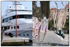 double vision (magicoda) Tags: venice italy reflection colors boat nikon barca italia ship foto yacht nave mooring fotografia dslr biennale venezia colori reflexion 2009 riflesso veneto d300 ormaggio biennale2009 magicoda cadidio davidemaggi maggidavide