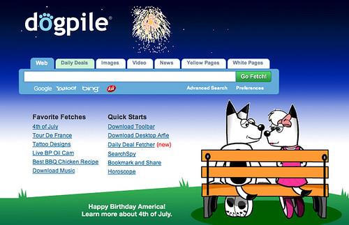 DogPile July 4th Logo