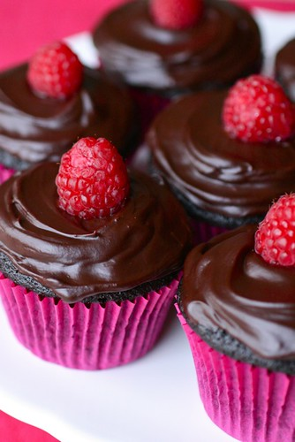 Double Chocolate Raspberry Cupcakes - Annie's EatsAnnie's Eats