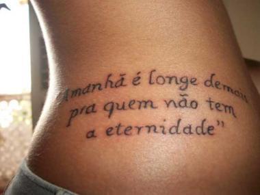 tatuagens com frases dicas