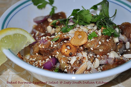 Baked Burmese Eggplant Salad @ Zesty South Indian Kitchen