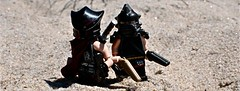 Desert Punks. (The Chef!) Tags: sand desert lego custom d90 brickarms desertpunks