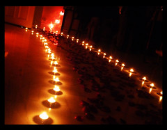 Halloween 2008 (Art Fountain) Tags: orange black rose fire petals candles flame romantic proposal