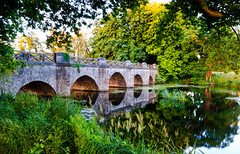 Daybreak at the Bridge (Mick h 51) Tags: morning bridge ireland summer dublin green castle canon river eos dawn sigma arches explore 1020 leinster castleknock explored 450d luttrelstown