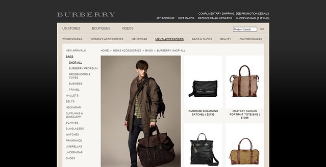 Burberry Men's Bags