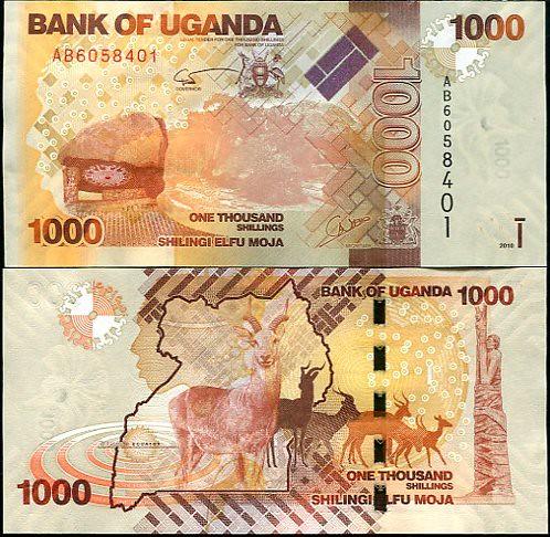 1000 Šilingov Uganda 2010