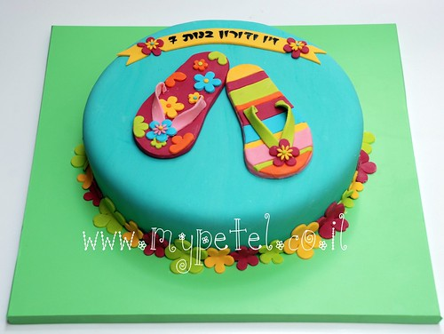Flip Flop Cake (explore 8 July) ~*~ עוגה בכפכפים