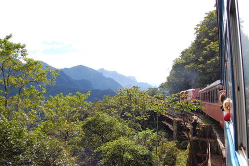 Scenic train ride from Curitiba to Morretes
