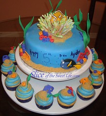 Nemo Cupcake Tower (Slice of the Sweet Life) Tags: tower beach cake nemo cupcake theme dory gumpaste fondont