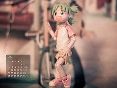 Calendar Girl (KayVee.INC) Tags: cute pose toy actionfigure japanese fdsflickrtoys manga kawaii figure figurine collectable kaiyodo yotsuba danbo  revoltech  lameattempt danboard revoltechyotsuba msh0710 msh07107