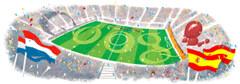 Logo Google dedicado a la worldcup 2010