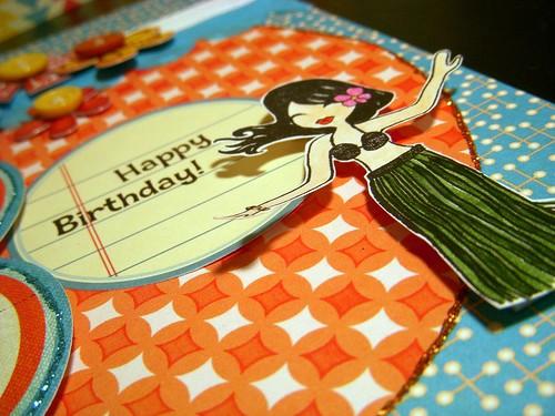 Happy Birthday Hawaiian Dancer 2