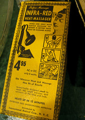 Infra- Heat Massager (prima seadiva) Tags: vintage market sale pikeplace rummage massager
