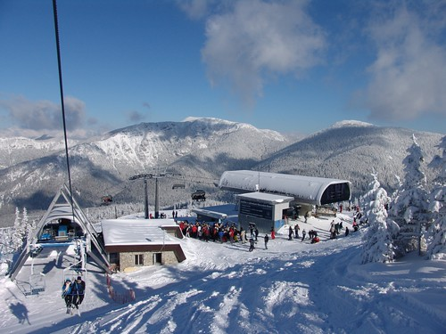 Top of the mountain in Jasna, Slovakia