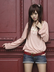 [フリー画像素材] 人物, 女性 - アジア, Tシャツ ID:201110121400