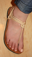 Tie6 (Infinity Sandals) Tags: feet foot shoe shoes handmade sandals infinity wheat sandal