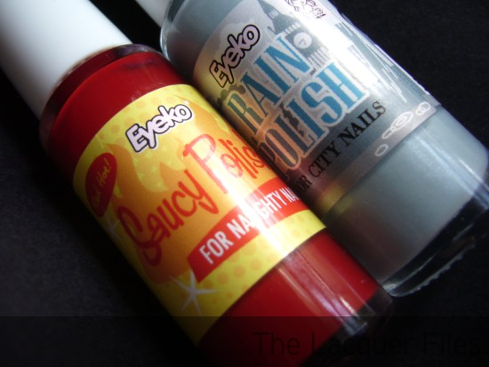 Eyeko Limited Edition Rain Polish and Saucy Polish