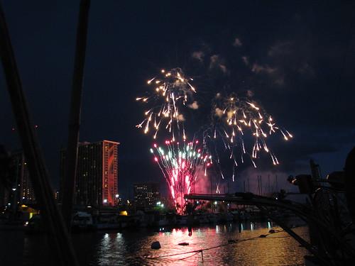 Waikiki fireworks from Marcy