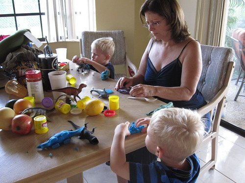 Playhdoh with Grandma