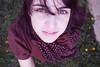 Teeny tiny hearts! (Honey Pie!) Tags: portrait woman selfportrait girl grass scarf dress grama vestido lenço melinadesouza