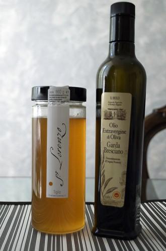 Miele di tiglio San Lorenzo e Olio e.v.di oliva Il Brolo