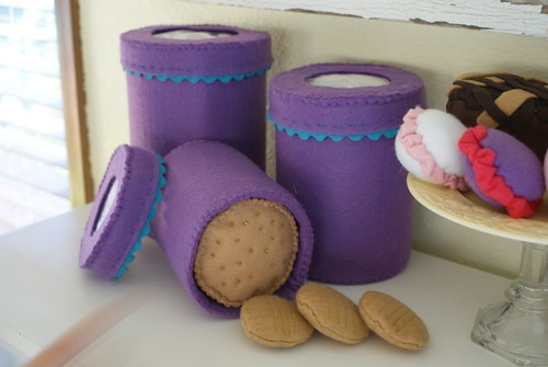 Canisters, peanut butter cookies
