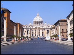 St. Peter's Basilica as seen from Via della Conciliazione (imre.farago) Tags: road street italy vatican stpeters rome roma building church saint architecture square see san italia catholic roman basilica religion via vaticano holy peter dome piazza duomo stpeterssquare peters stpeter pietro viadellaconciliazione stpetersbasilica piazzasanpietro saintpetersbasilica stpetersquare holysee stpieter basiliek conciliazione conciliation róma vatikán roadoftheconciliation basilicasanpetro
