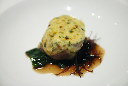 Seared Veal Fillet with Sea Urchin and Wasabi Butter