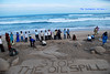 Sand Art Awareness on Oil spill