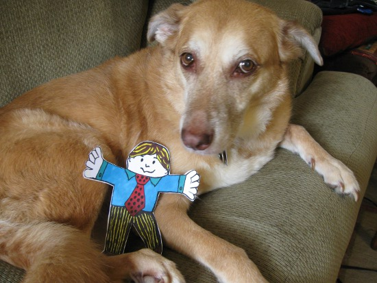 Una with Flat Stanley