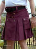 Wine Kilt with celtic buttons