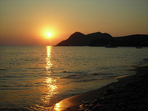 Sunset at Ag. Ioannis beach